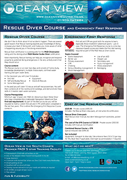 Ocean View PADI Rescue and EFR